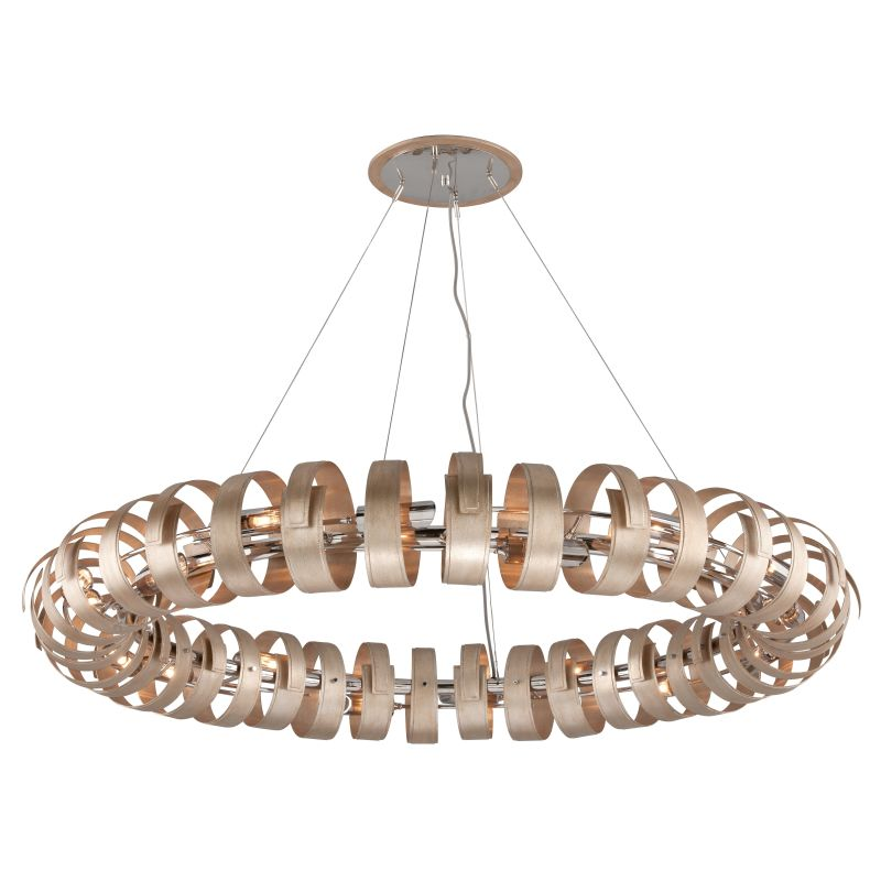 Corbett Lighting 191-418 Recoil 18 Light Pendant with Hand-Crafted