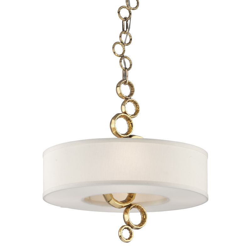 Corbett Lighting 202-44 Continuum 4 Light Pendant with Cast Brass