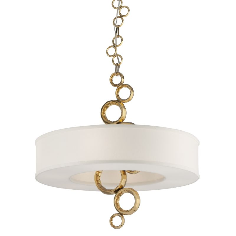 Corbett Lighting 202-46 Continuum 6 Light Pendant with Cast Brass