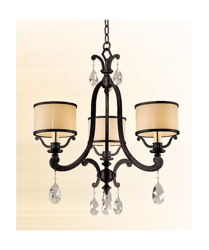 Corbett Lighting 86-03 Three Light Mini Chandelier From The Roma