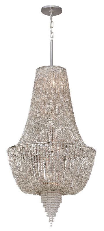Corbett Lighting 141-46 6 Light Ornate Foyer Pendant with Jewelry