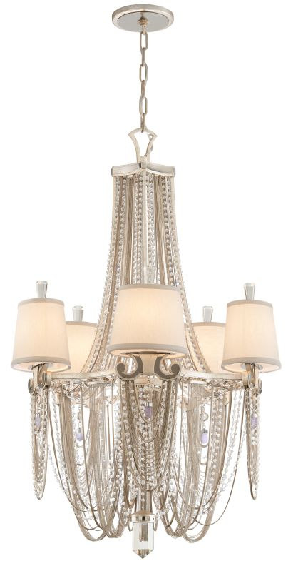 Corbett Lighting 157-05 Flirt 5 Light Single Tier Amethyst Rock