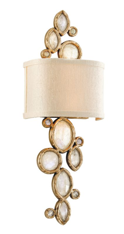 Corbett Lighting 167-12 Fame & Fortune 2 Light Brazilian Rock Crystal