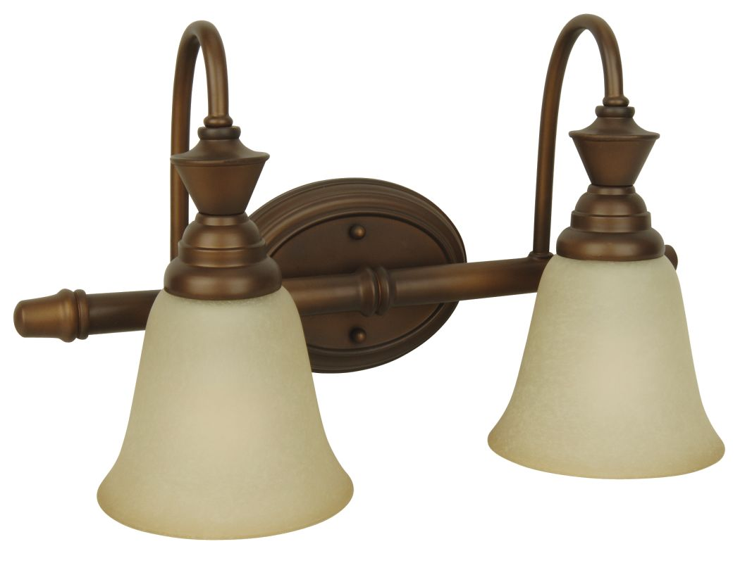 "Craftmade 14418 Two Light Down Lighting 18"" Wide Bathroom Fixture from"