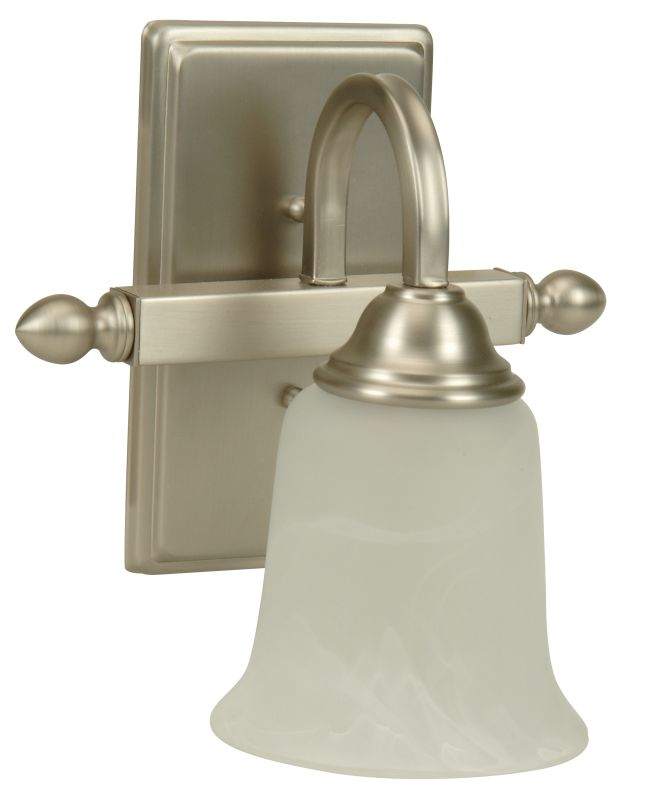 """Craftmade 15209 Madison 12"""" Tall 1 Light Bathroom Wall Sconce Brushed"""