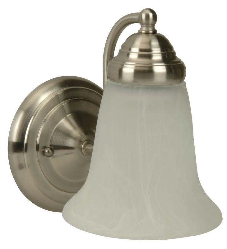"Craftmade 15305 Cathryn 9"" Tall 1 Light Bathroom Wall Sconce Brushed"