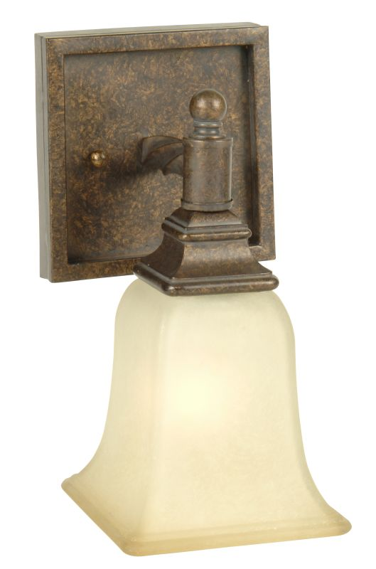 "Craftmade 15405 Ryan 10"" Tall 1 Light Bathroom Wall Sconce Peruvian"