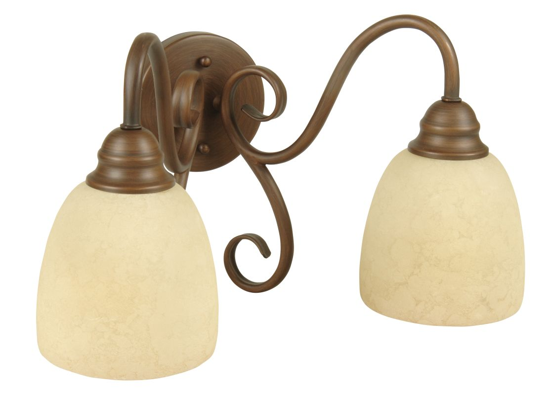 "Craftmade 15515 Two Light Down Lighting 15"" Wide Bathroom Fixture from"