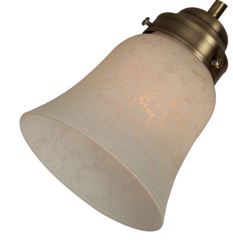 """Craftmade 195 2.25"""" Bell Shaped Fan Glass Alabaster Frost Ceiling Fan"""