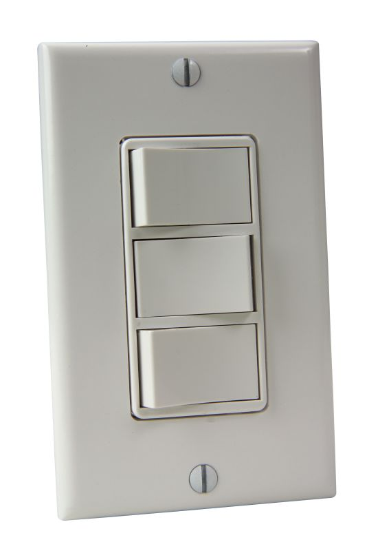 Craftmade CM-1755 Three Switch Wall Control White Accessory Dimmers &