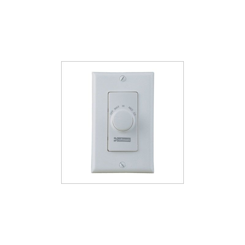 Craftmade CM-RTF Four Speed Fan Wall Control White Accessory Wall