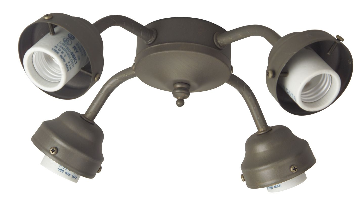 Craftmade F400 Four Light Ceiling Fan Fitter European Bronze Ceiling Sale $13.09 ITEM#: 708360 MODEL# :F400-EB :