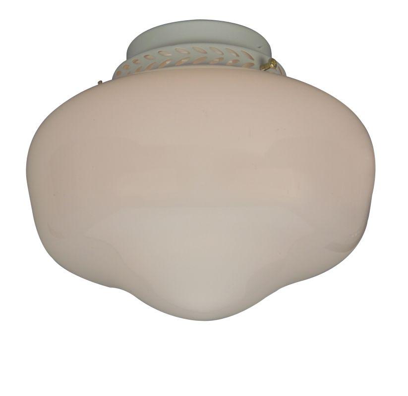 Craftmade LK3 Single Light Ceiling Fan Light Kit White Glass with