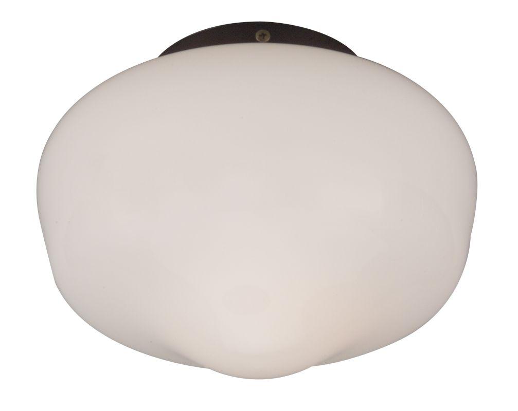Craftmade OLK3 Single Light Outdoor Ceiling Fan Light Kit White Glass