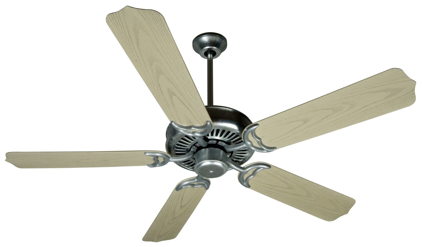 "Craftmade Porch 52"" 5 Blade Indoor Ceiling Fan Galvanized Steel Fans"
