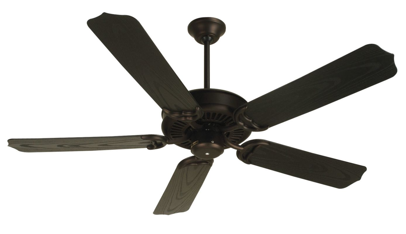 "Craftmade Porch 52"" 5 Blade Indoor Ceiling Fan Oiled Bronze Fans"