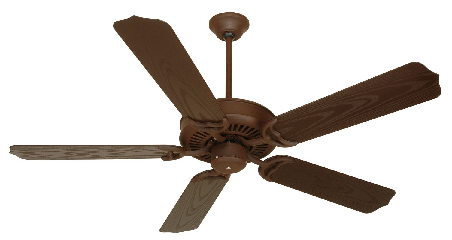 "Craftmade Porch 52"" 5 Blade Indoor Ceiling Fan Rustic Iron Fans Indoor"