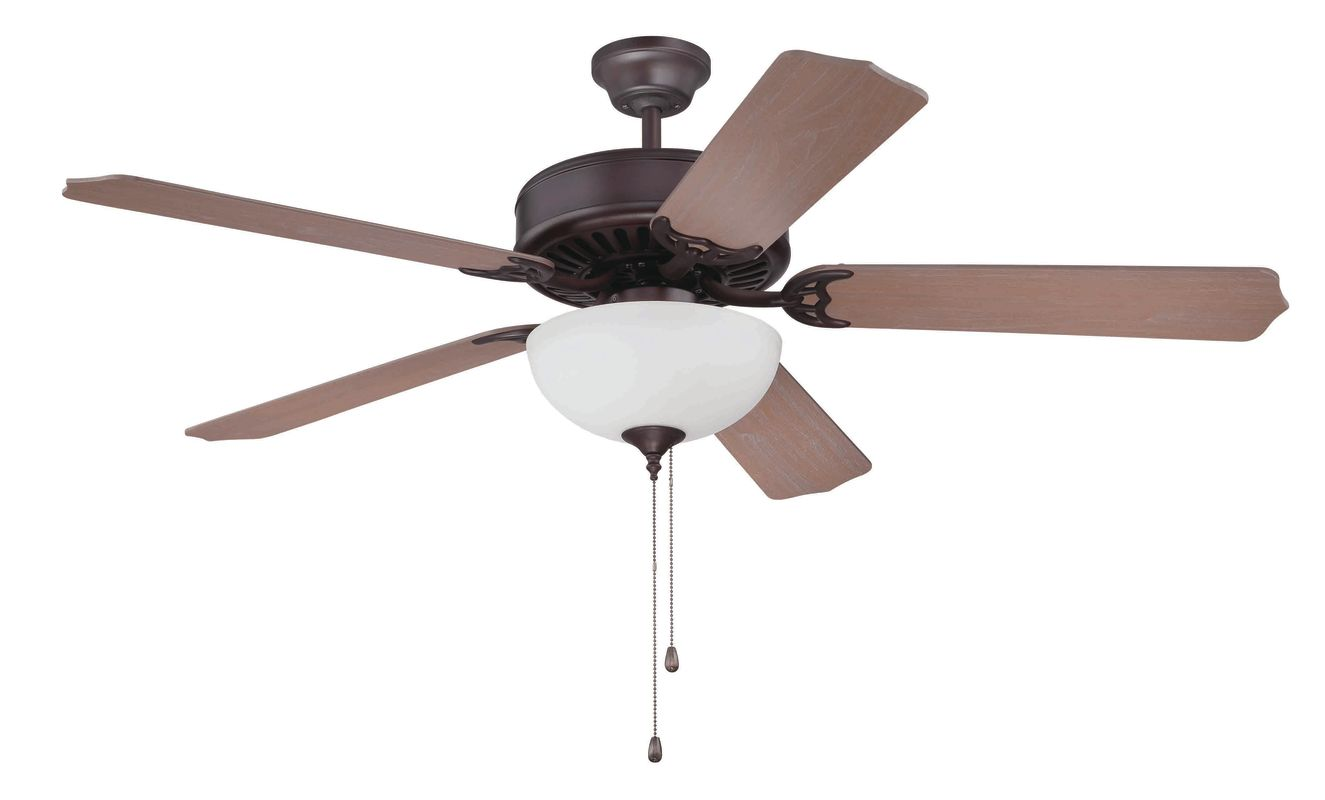 "Craftmade C201 Pro Builder 52"" 5 Blade Indoor Ceiling Fan - Light Kit"