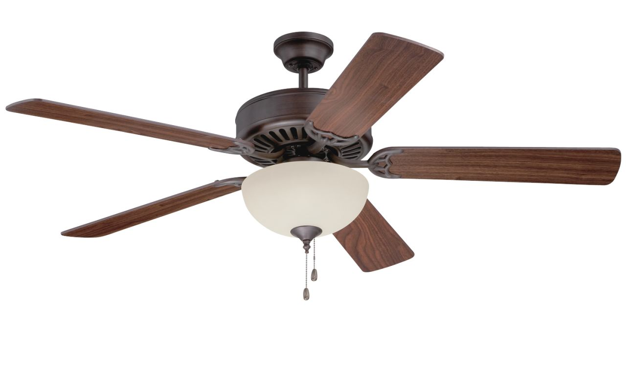 "Craftmade C208 Pro Builder 52"" 5 Blade Indoor Ceiling Fan - and Light"