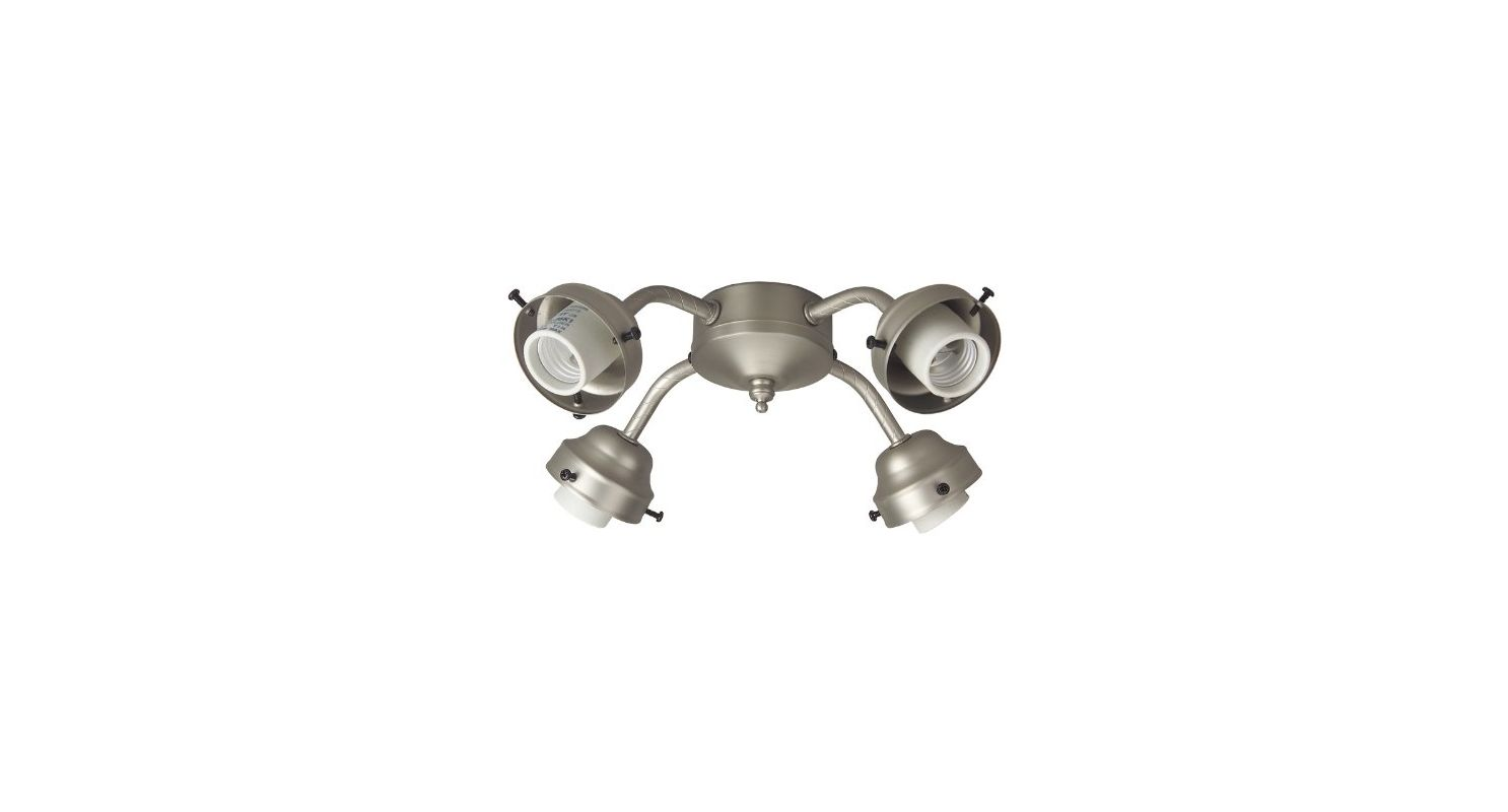 Craftmade F400CFL Four Light Ceiling Fan Fitter Brushed Nickel Ceiling Sale $47.00 ITEM#: 1108245 MODEL# :F400CFL-BN UPC#: 647881094539 :