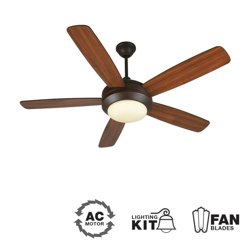 "Craftmade HE52 Helios 52"" 5 Blade Indoor Ceiling Fan - Blades and"