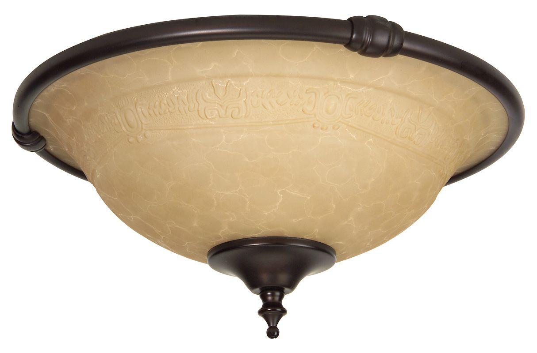 Craftmade LK24CFL Two Light Ceiling Fan Light Kit Oiled Bronze Ceiling