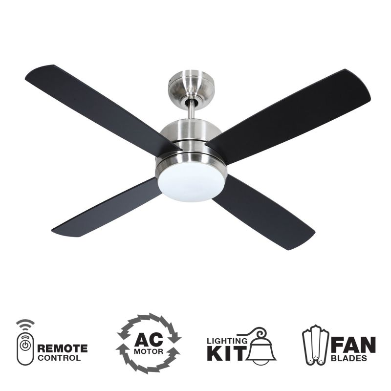 "Craftmade Montreal 44"" 4 Blade Indoor Ceiling Fan - Blades Remote and"