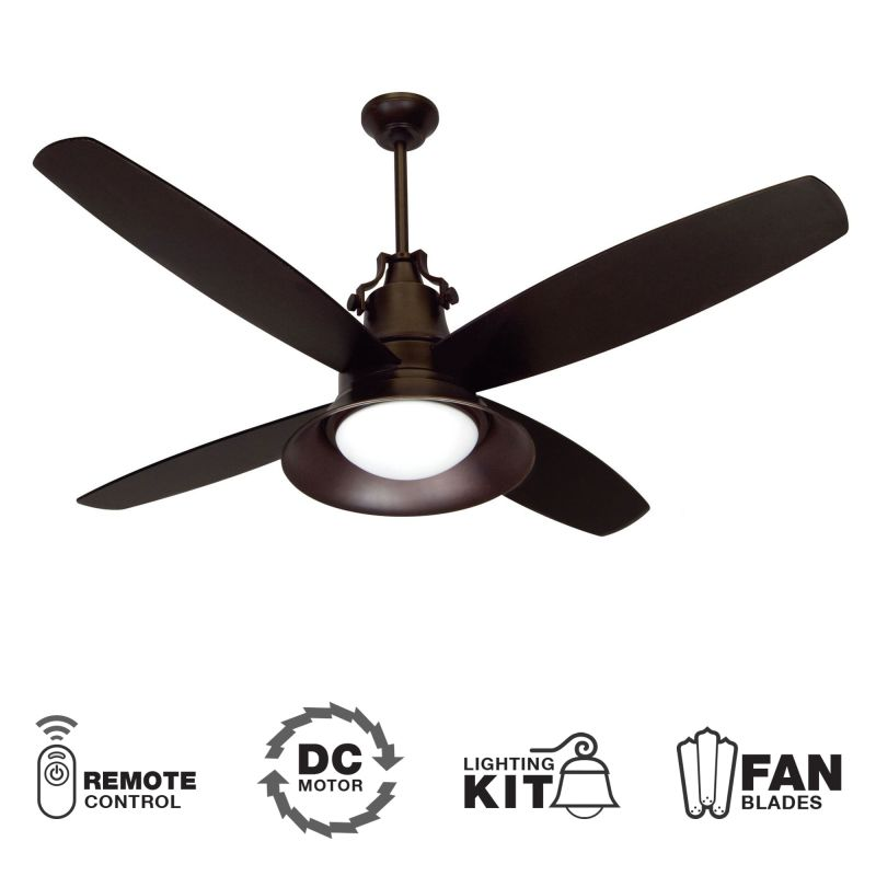 "Craftmade UN52 Union 52"" 4 Blade DC Indoor Ceiling Fan - Blades"