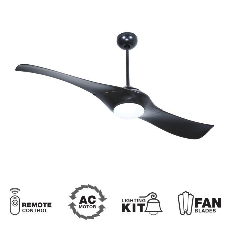 "Craftmade Vogue 54"" 2 Blade Indoor Ceiling Fan - Blades Remote and"