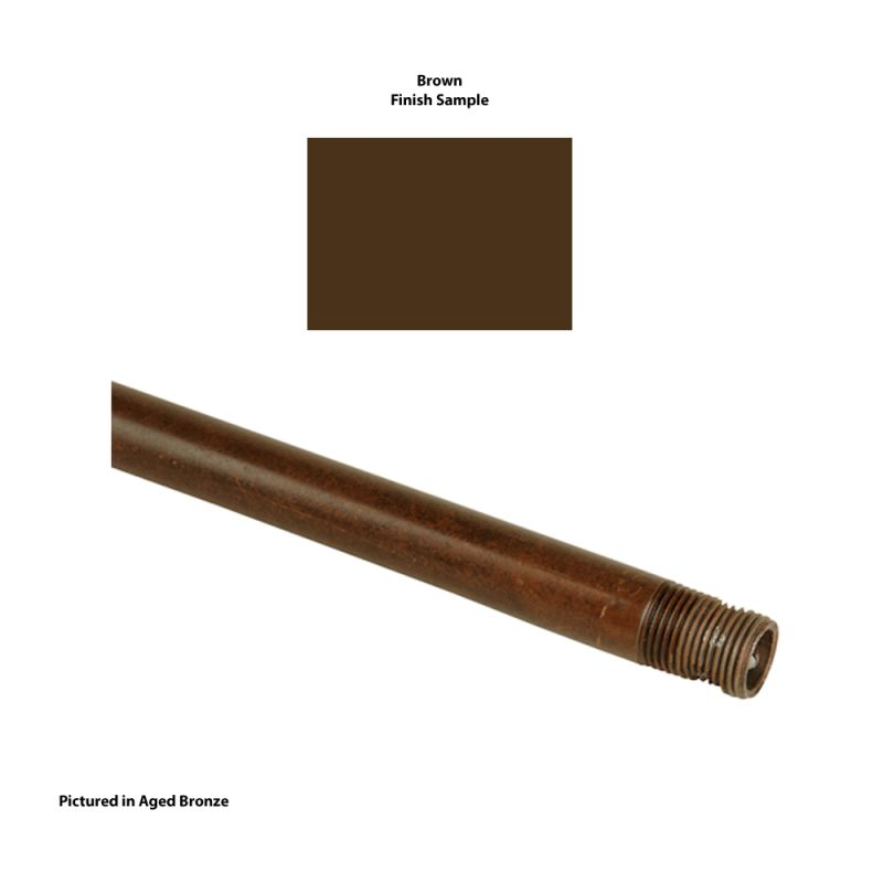 "Craftmade DR12 12"" Downrod Brown Accessory Downrods"