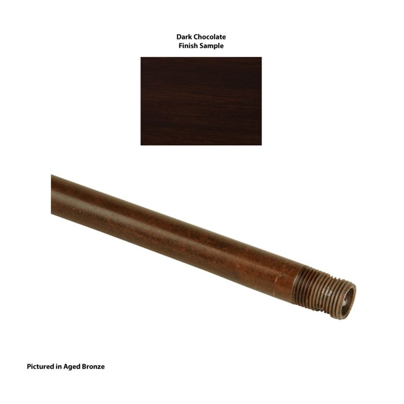 "Craftmade DR12 12"" Downrod Dark Chocolate Accessory Downrods"