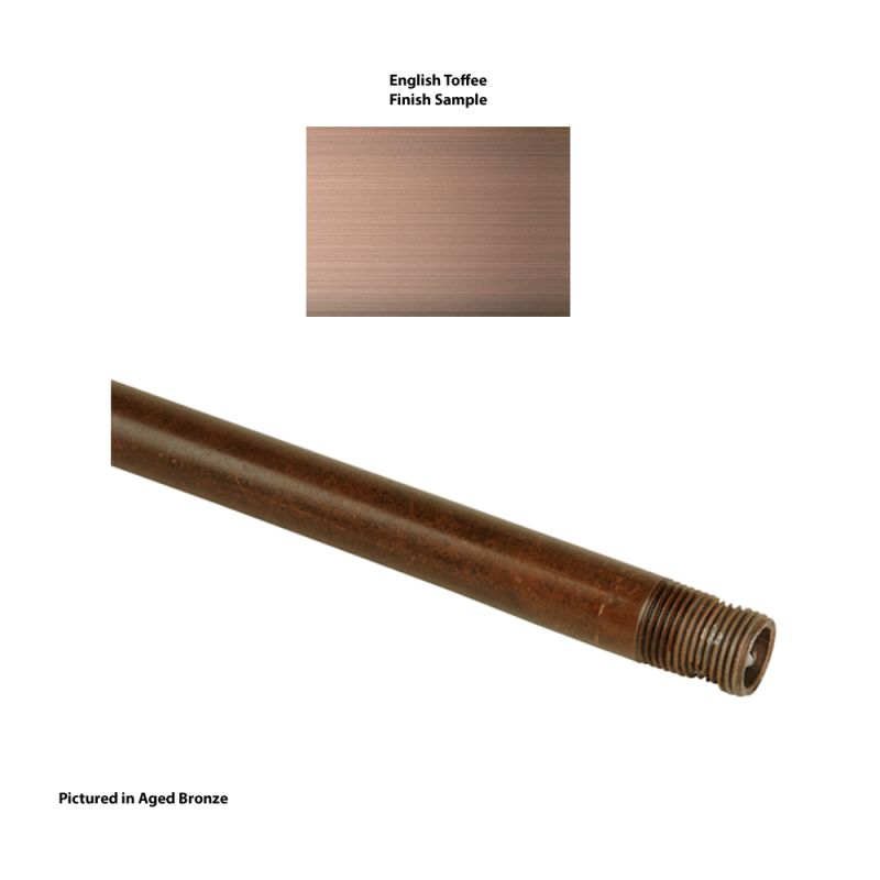 "Craftmade DR12 12"" Downrod English Toffee Accessory Downrods"