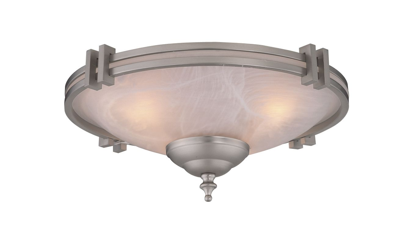Craftmade LK63 Two Light Ceiling Fan Light Kit Alabaster Finish with