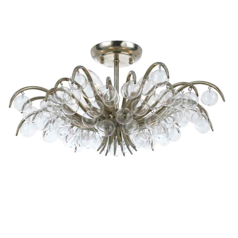 Crystorama Lighting Group 430 Metro 5 Light Crystal Semi-Flush Mount