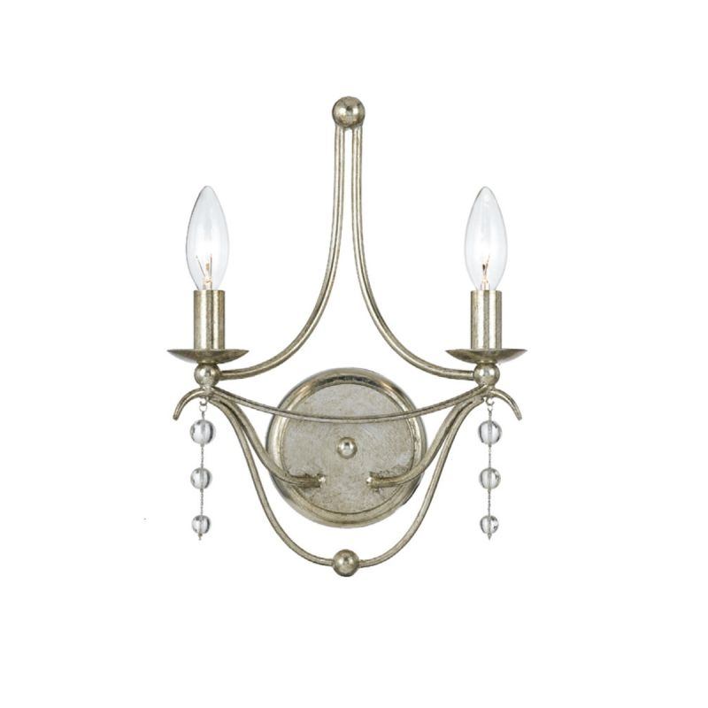 Crystorama Lighting Group 432 Metro 2 Light Candle Style Double Wall
