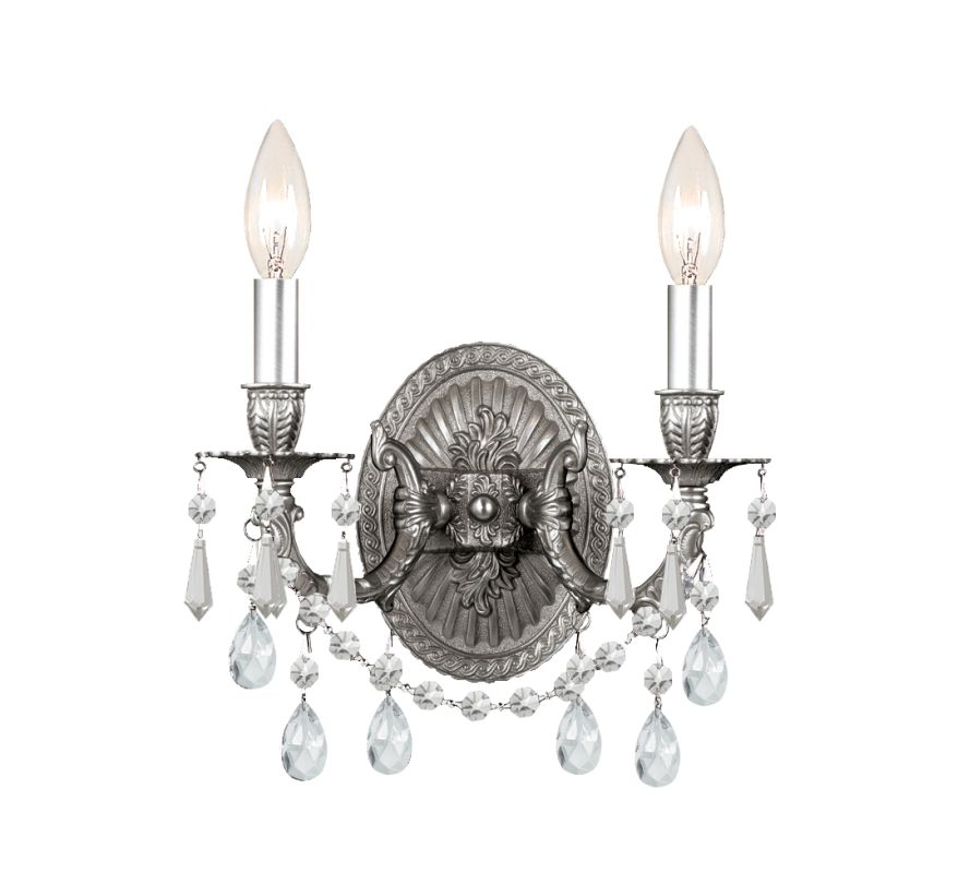 Crystorama Lighting Group 5522 Gramercy 2 Light Candle Style Crystal