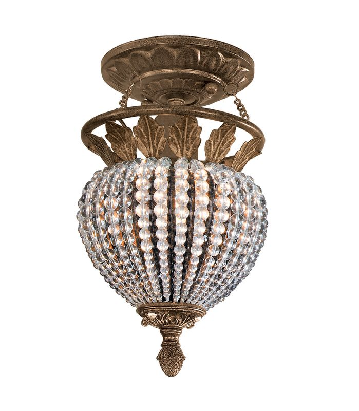 Crystorama Lighting Group 6720 Single Light Roosevelt Ceiling Fixture