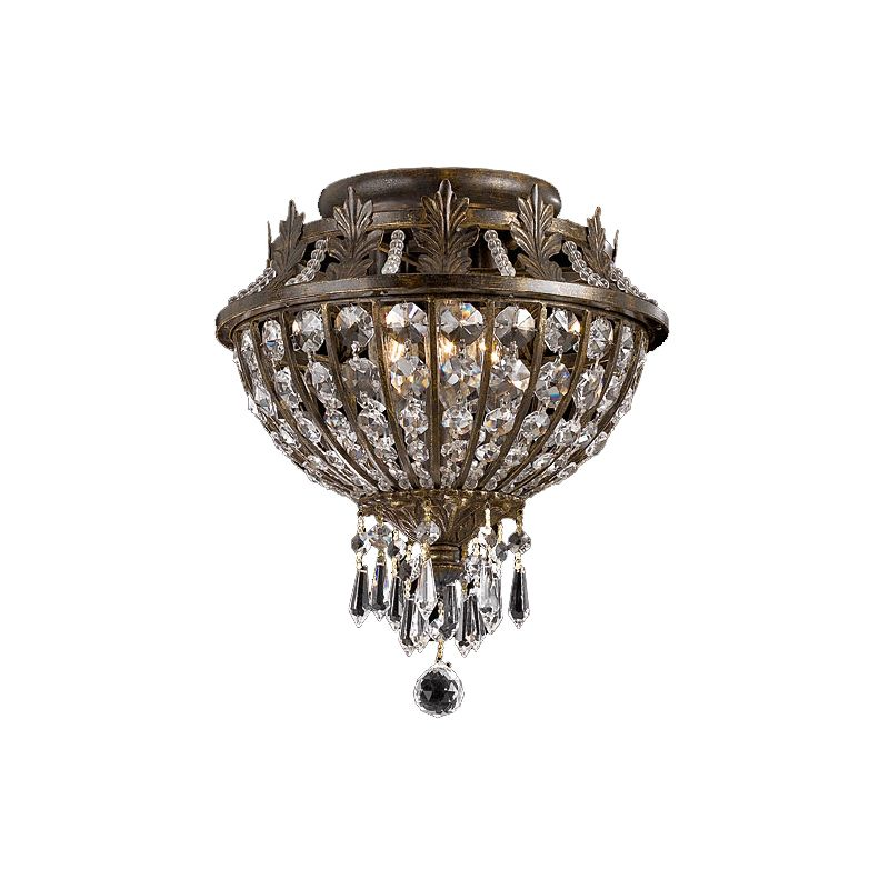 Crystorama Lighting Group 5163-CL-MWP Crystal Flush Mount Ceiling