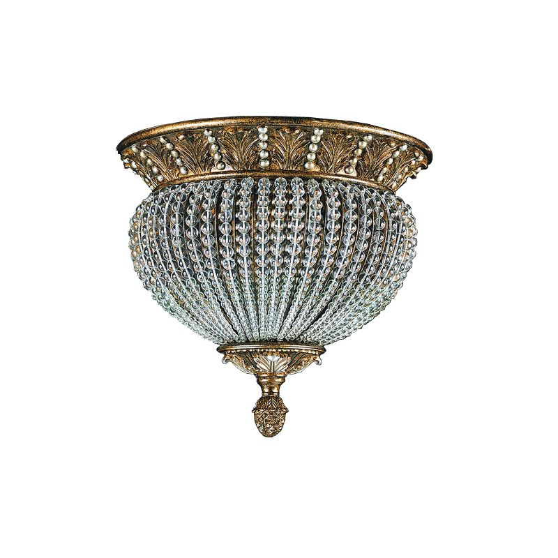 Crystorama Lighting Group 6723 Crystal Two Light Roosevelt Semi Flush