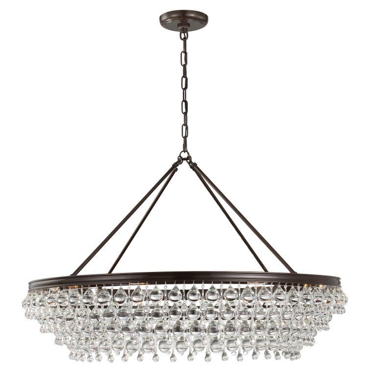 "Crystorama Lighting Group 278 Calypso 8 Light 40"" Wide Chandelier with Sale $2400.00 ITEM#: 2879199 MODEL# :278-VZ UPC#: 633779032394 :"