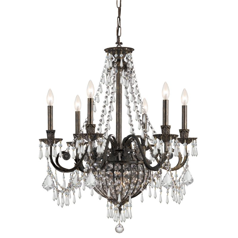 "Crystorama Lighting Group 5166-CL-MWP Vanderbilt 9 Light 27"" Wide"