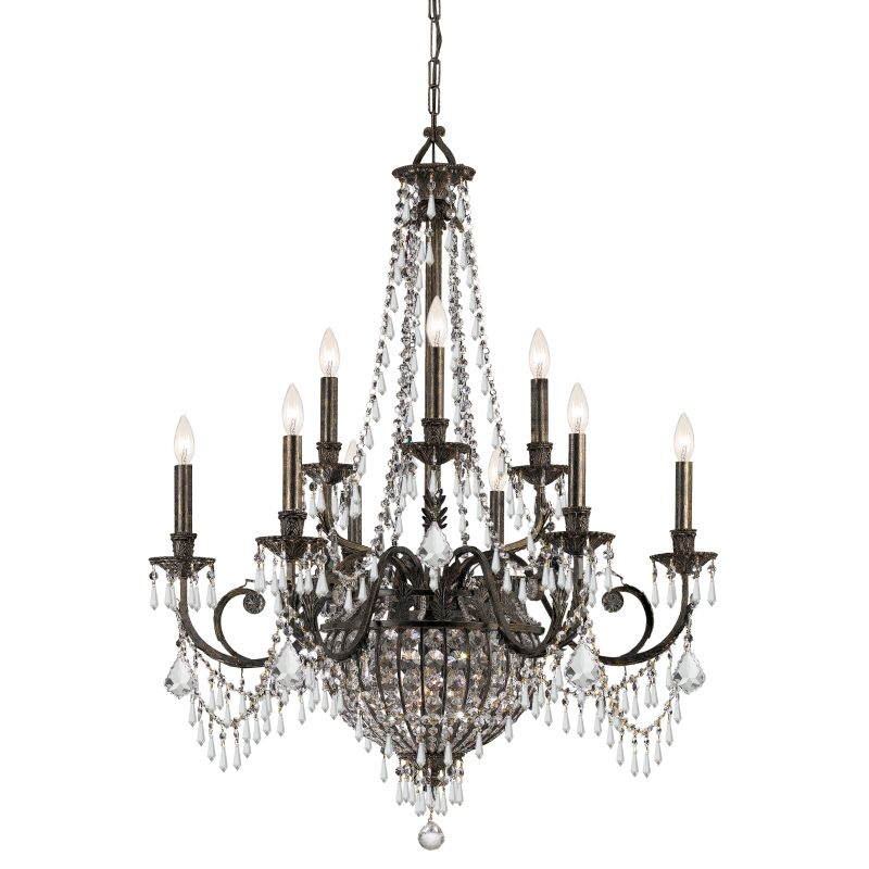 "Crystorama Lighting Group 5168-CL-MWP Vanderbilt 12 Light 34"" Wide 2"