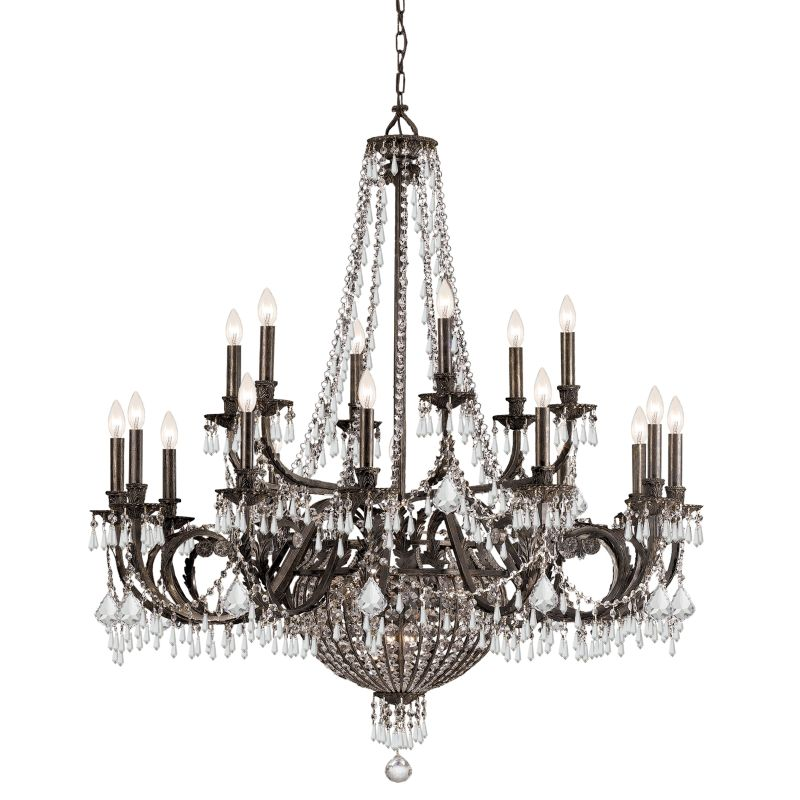 "Crystorama Lighting Group 5169-CL-MWP Vanderbilt 23 Light 44"" Wide 2"