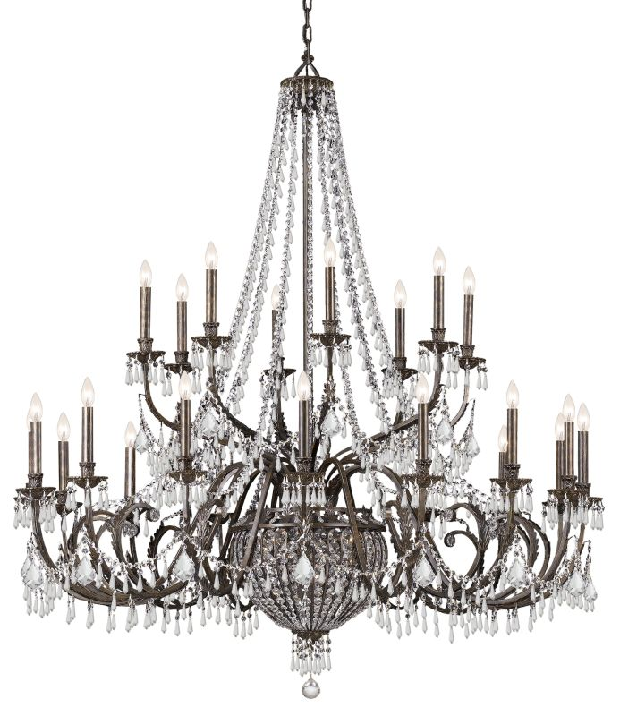 "Crystorama Lighting Group 5170-CL-MWP Vanderbilt 29 Light 60"" Wide 2"