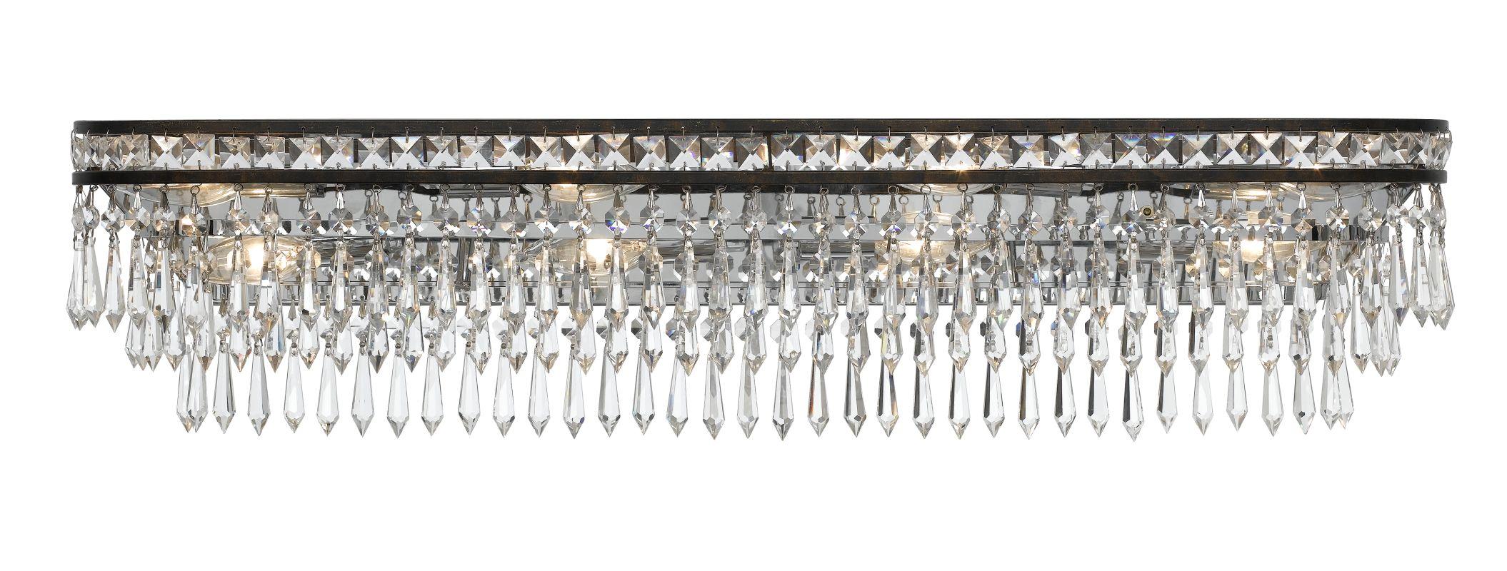 Crystorama Lighting Group 5267 Mercer 8 Light Bathroom Vanity Light Sale $650.00 ITEM#: 2362509 MODEL# :5267-EB-CL-MWP UPC#: 633779024733 :
