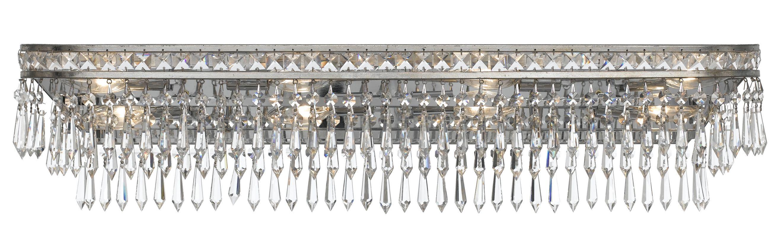 Crystorama Lighting Group 5267 Mercer 8 Light Bathroom Vanity Light Sale $650.00 ITEM#: 2362510 MODEL# :5267-OS-CL-MWP UPC#: 633779024740 :