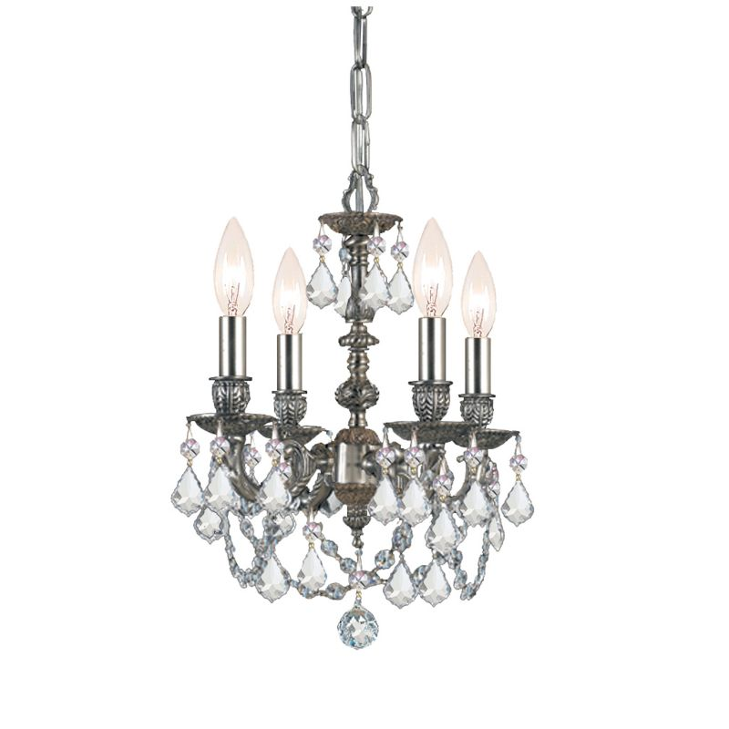 Crystorama Lighting Group 5504-SS-MWP Gramercy 4 Light Chandelier