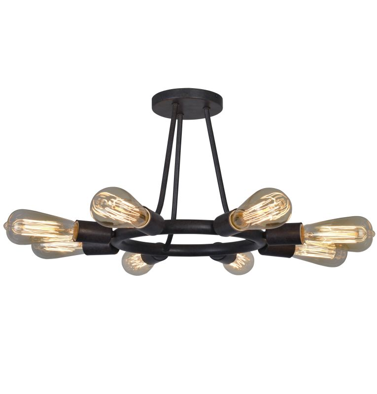 "Crystorama Lighting Group 9043 Dakota 8 Light 15"" Wide Made of wrought"