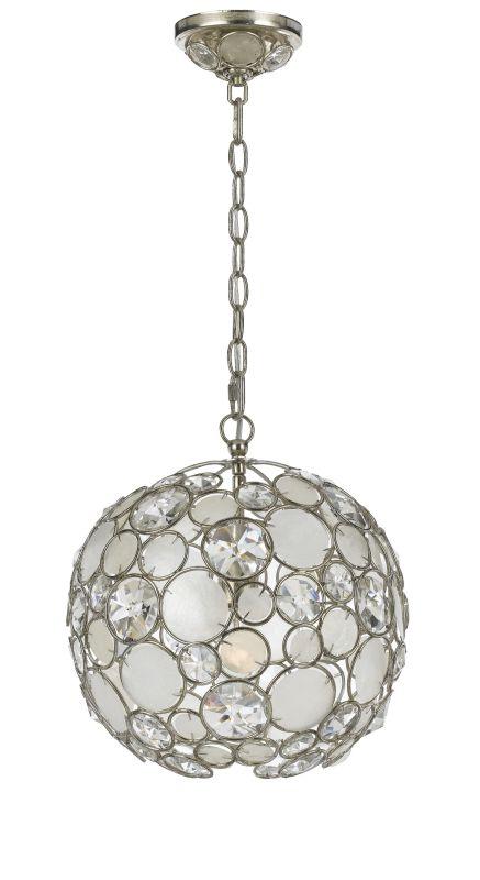 Crystorama Lighting Group 527-SA Palla 1 Light Mini Pendant with
