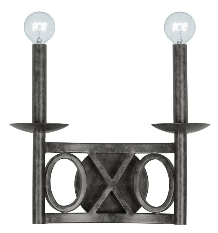 Crystorama Lighting Group 9242-EB Odette 2 Light Double Wall Sconce